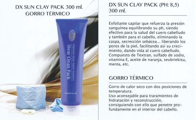 dx sun clay pack paimore y gorro térmico